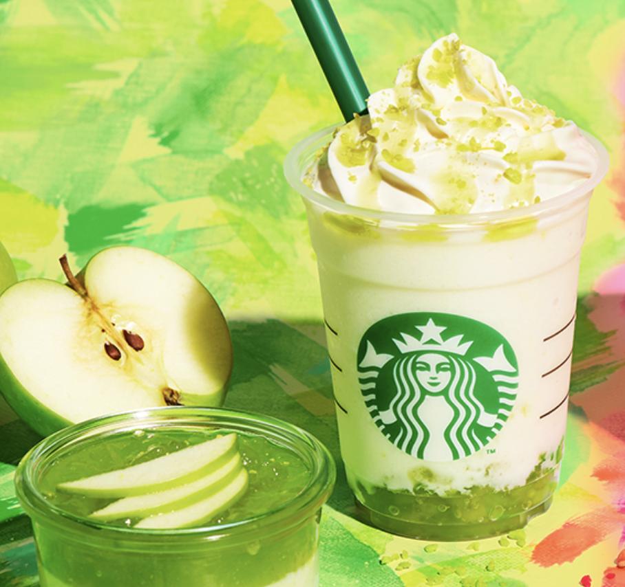 グリーンアップルジェリーフラペチーノのカロリーと糖質は?味感想とカスタマイズも!