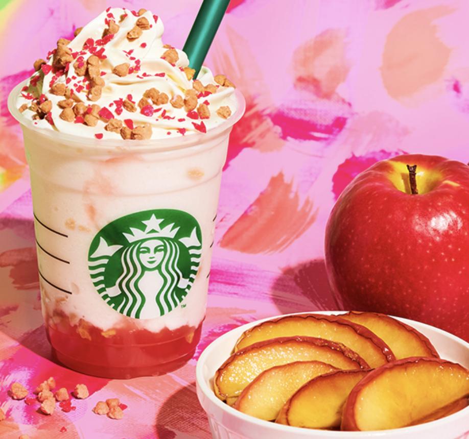 ベイクドアップルピンクフラペチーノのカロリーと糖質は?味感想とカスタマイズも!